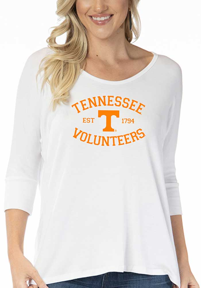 Tennessee Volunteers Womens White Tamara Long Sleeve T-Shirt - Image 1