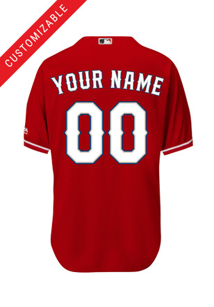 Texas Rangers Kids Red Custom Baseball Jersey