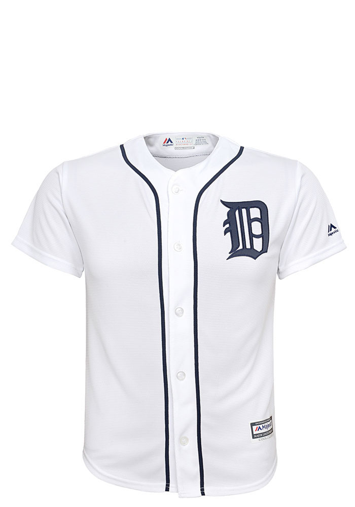 Detroit Tigers Youth White Custom Jersey - Image 2