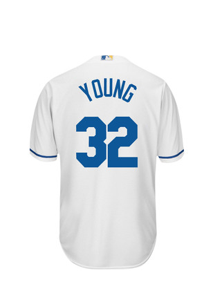 Chris Young KC Royals Mens white Player Replica Jersey