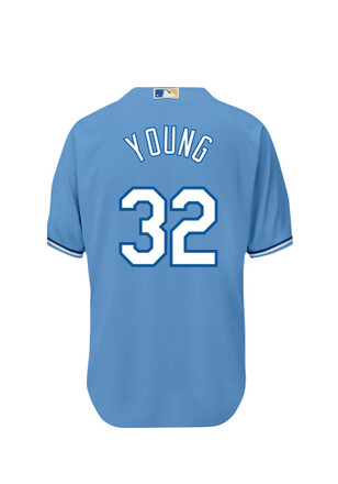 Chris Young KC Royals Mens powderblue Player Replica Jersey