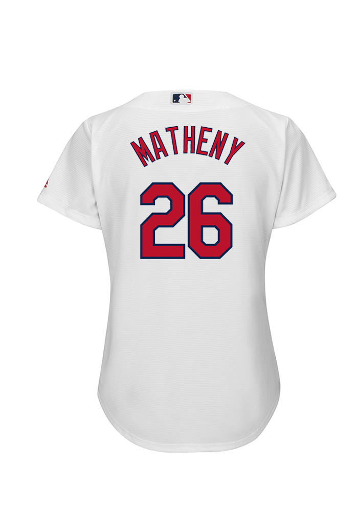 Mike Matheny 26 St Louis Cardinals Womens White Player Replica Jersey - Image 1