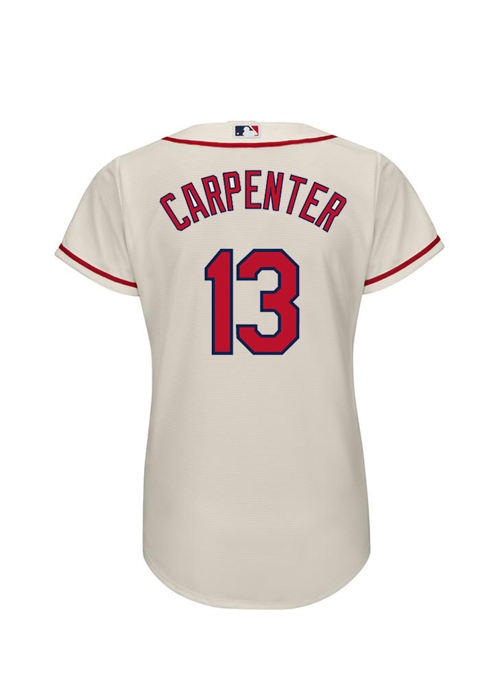 new concept 67d61 8c6c9 Matt Carpenter 13 St Louis Cardinals Womens Ivory Player Replica Jersey
