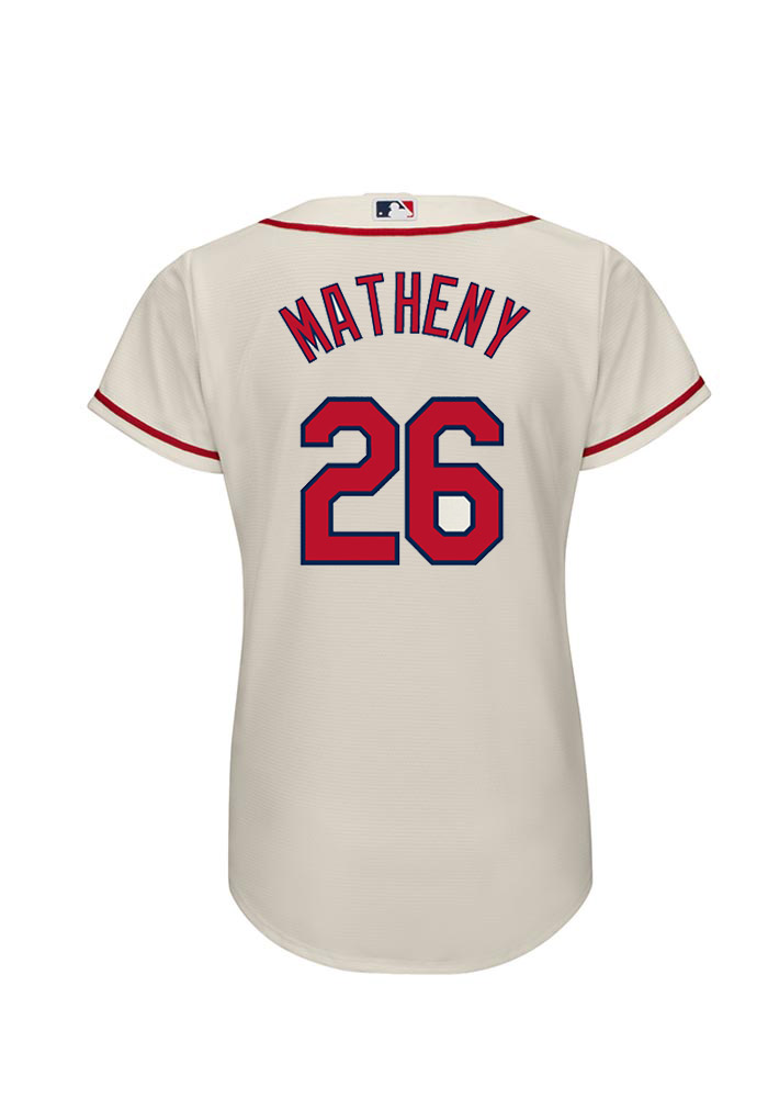 Mike Matheny 26 St Louis Cardinals Womens Ivory Player Replica Jersey - Image 1