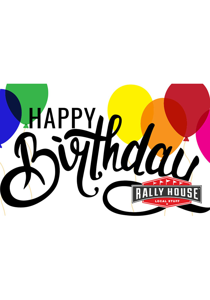 rally house happy birthday gift card - Happy Birthday Gift Card
