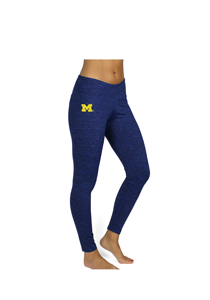 Michigan Wolverines Womens Navy Blue Space Dye Performance Pants