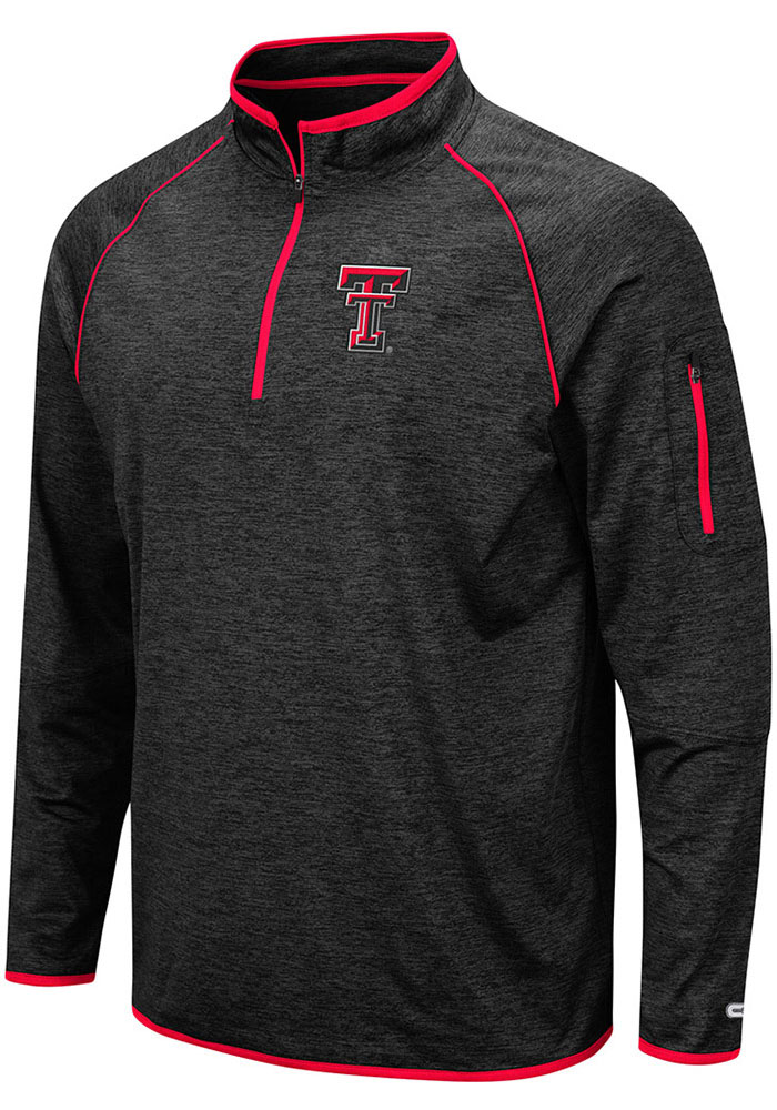 Colosseum Texas Tech Red Raiders Black Duff 1/4 Zip Pullover