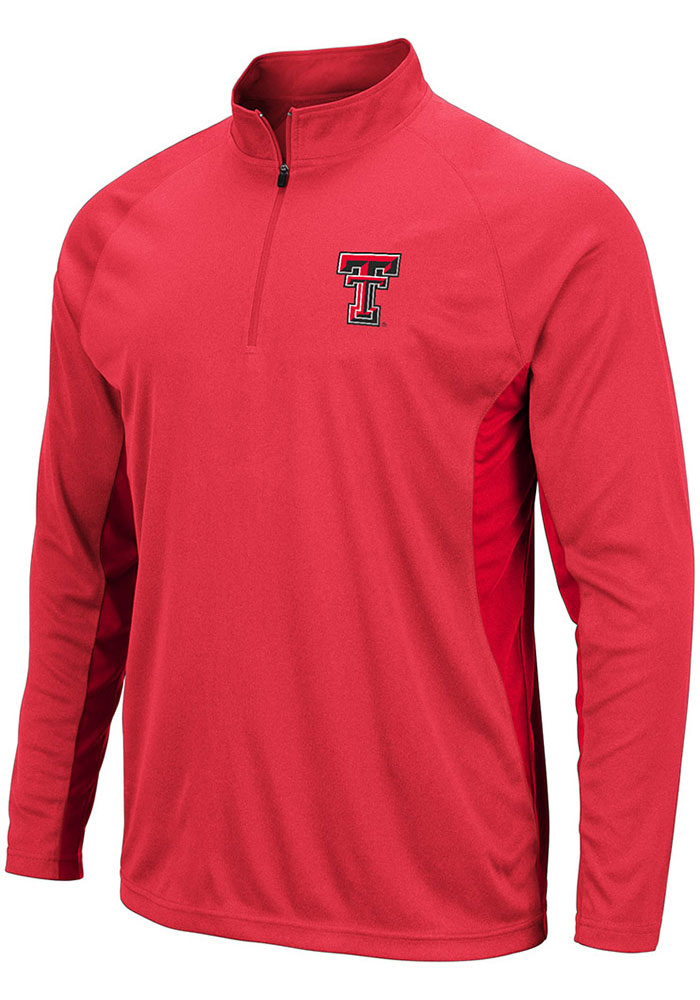 Colosseum Texas Tech Red Raiders Red Kliff 1/4 Zip Pullover