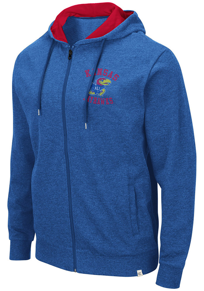 Colosseum Kansas Jayhawks Blue Ay Full Zip Jacket
