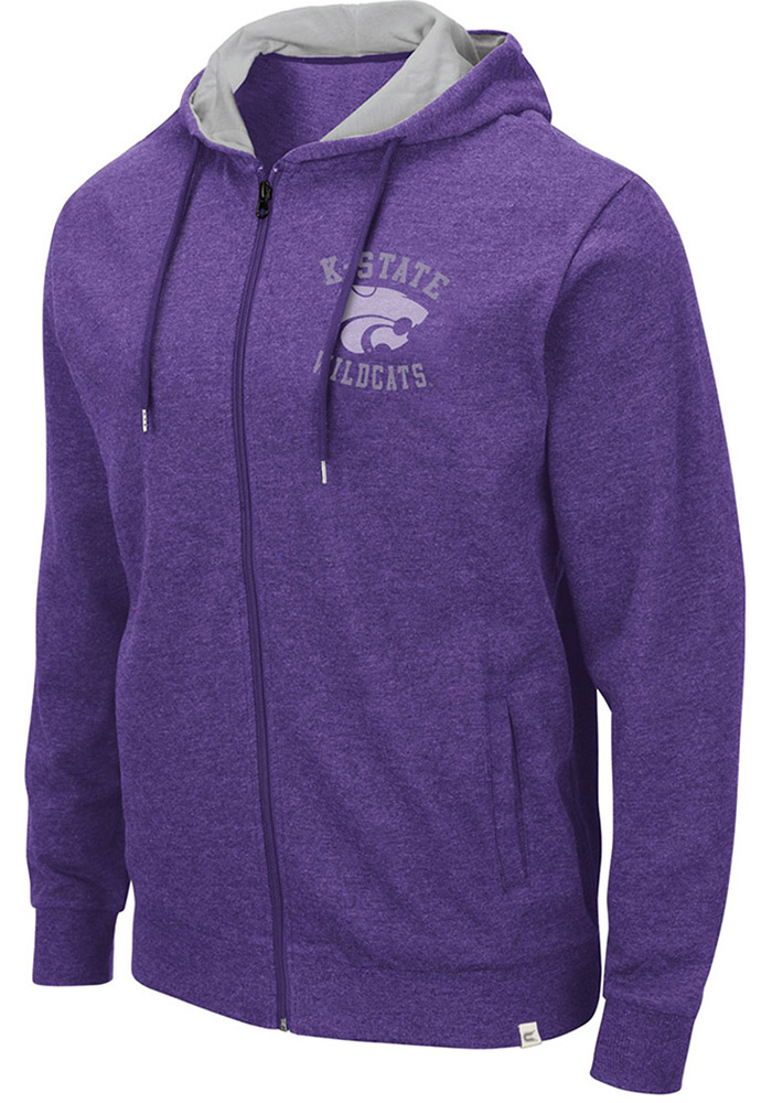 Colosseum K-State Wildcats Purple Ay Full Zip Jacket