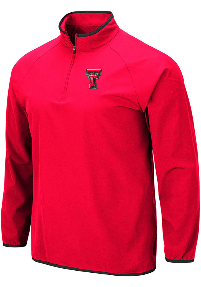 Colosseum Texas Tech Red Raiders Red Chalmers 1/4 Zip Pullover