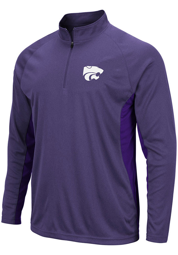 Colosseum K-State Wildcats Purple Kliff 1/4 Zip Pullover