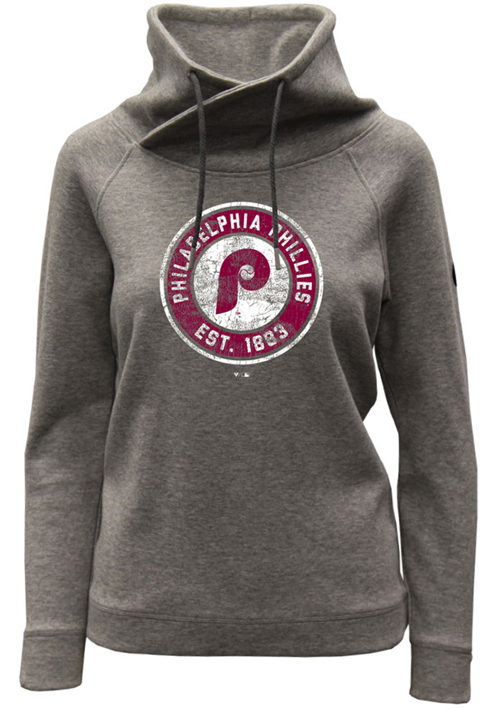 Philadelphia Phillies Womens Grey Craze Hoodie