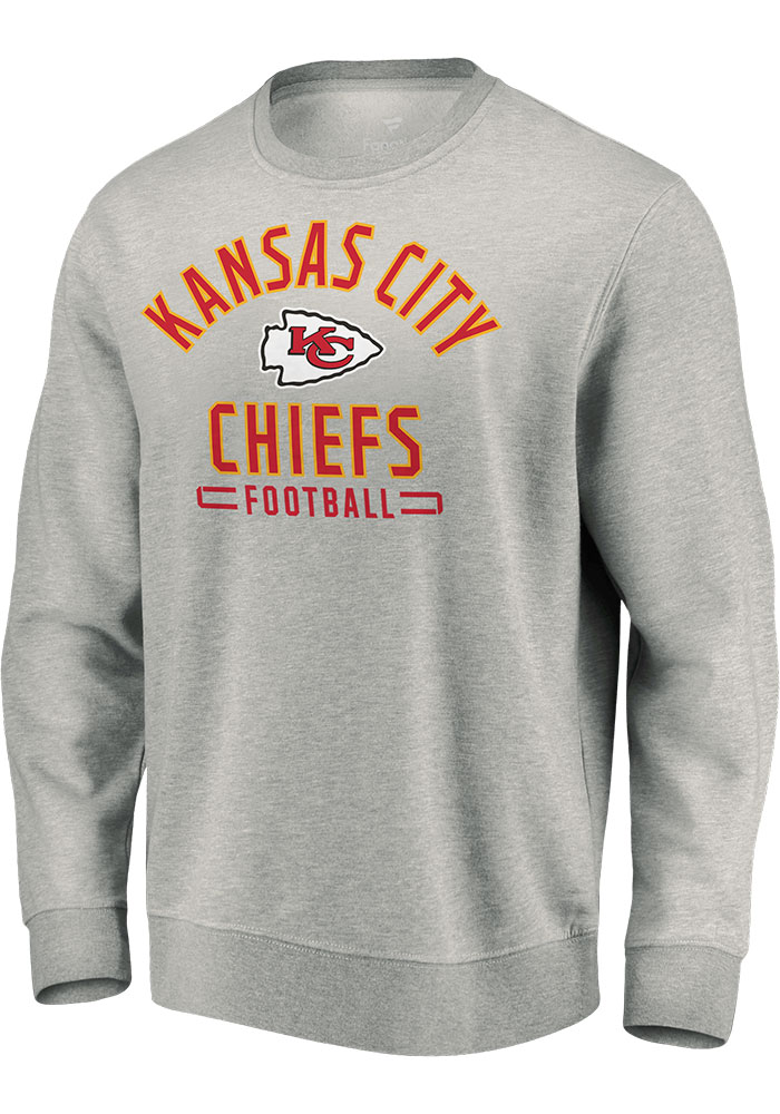 Kansas City Chiefs Grey Arc Stack Sweatshirt