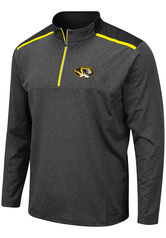 Colosseum Missouri Tigers Grey Snowball 1/4 Zip Pullover