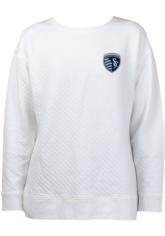 Sporting Kansas City Womens Lunar Quilted White Crew Sweatshirt