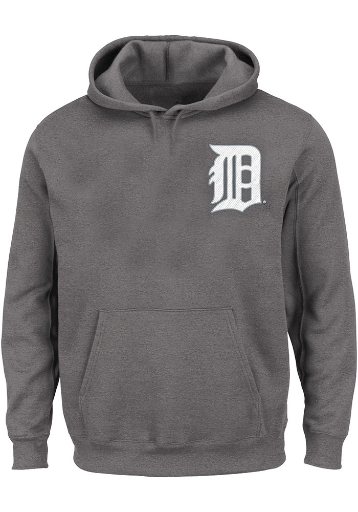 Detroit Tigers Grey Team Hooded Sweatshirt