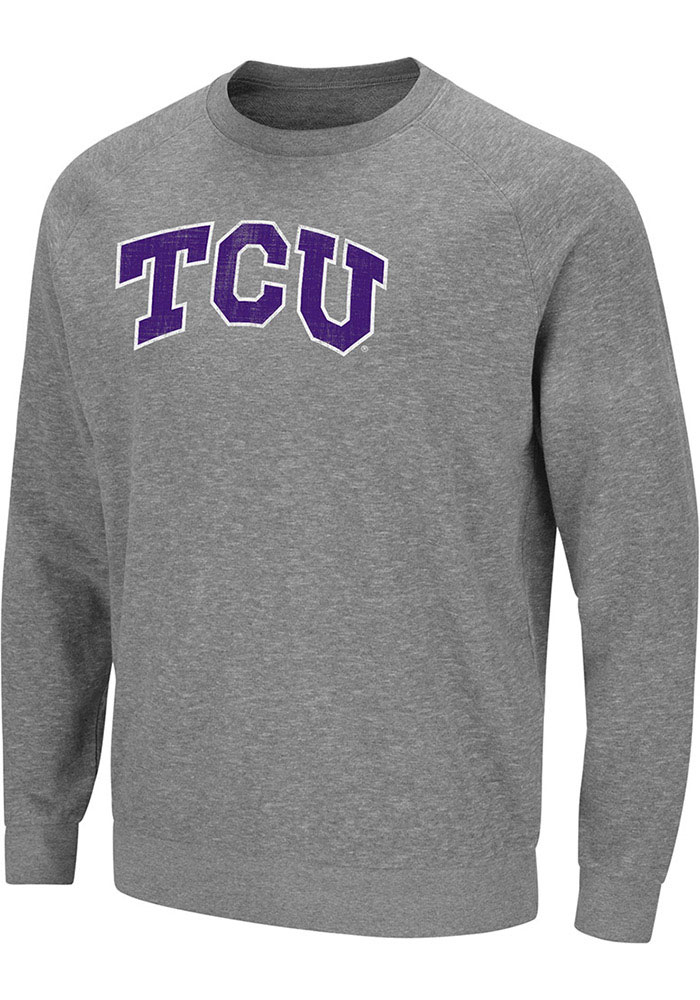 Colosseum TCU Horned Frogs Grey Henry French Terry Sweatshirt