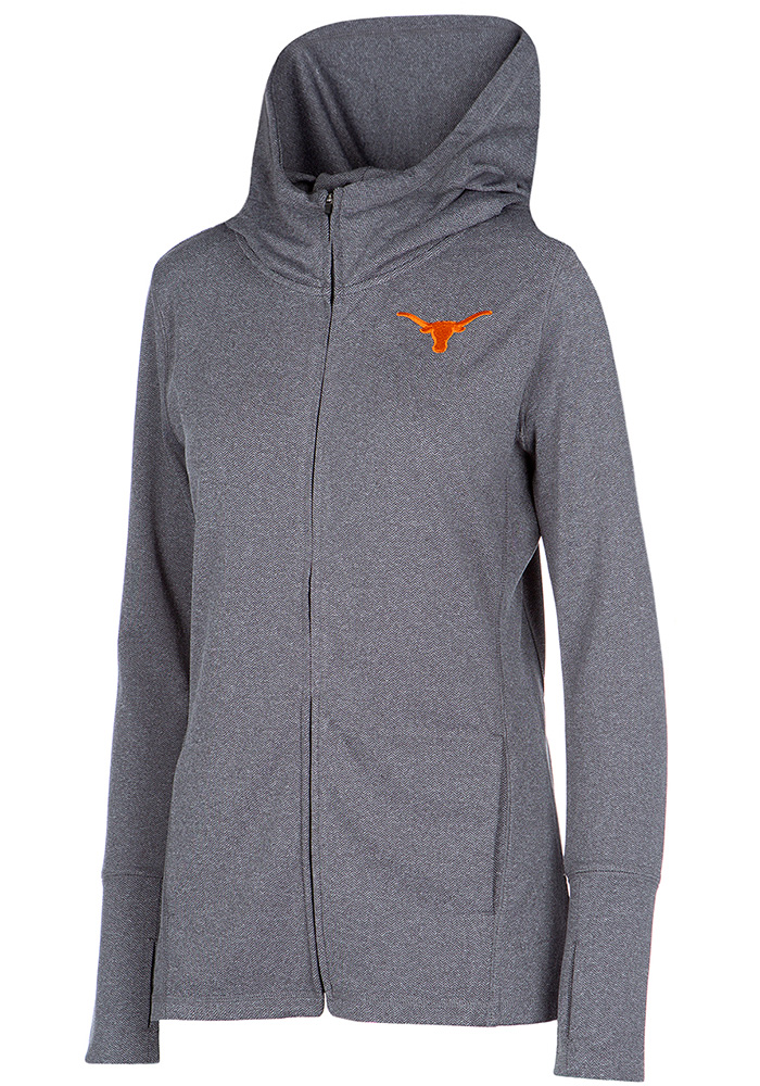 Texas Longhorns Womens Grey Marie Full Zip Jacket