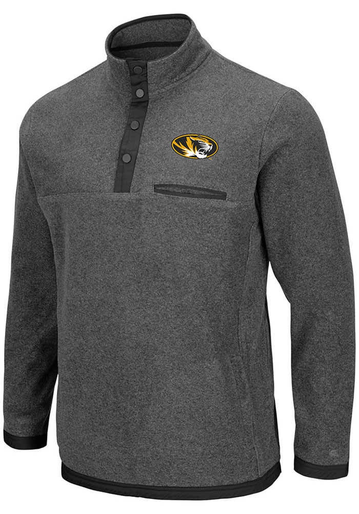Colosseum Missouri Tigers Grey Carter 1/4 Zip Pullover