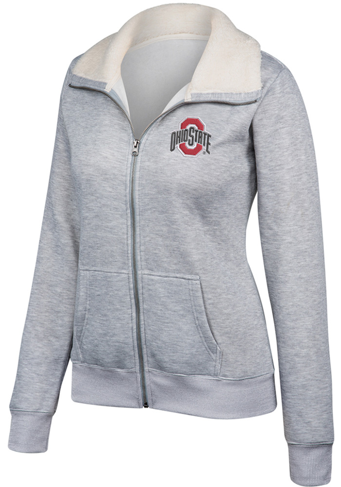 Ohio State Buckeyes Womens Grey Loveland Alternate Logo Full Zip Jacket