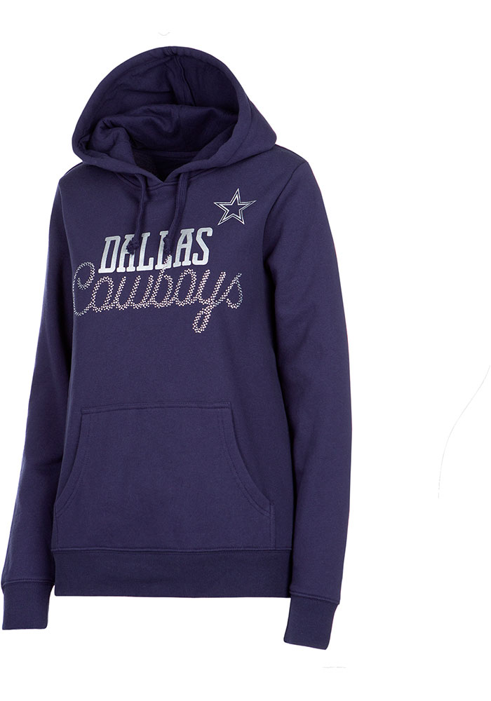 Dallas Cowboys Womens Navy Blue Faun Hoodie