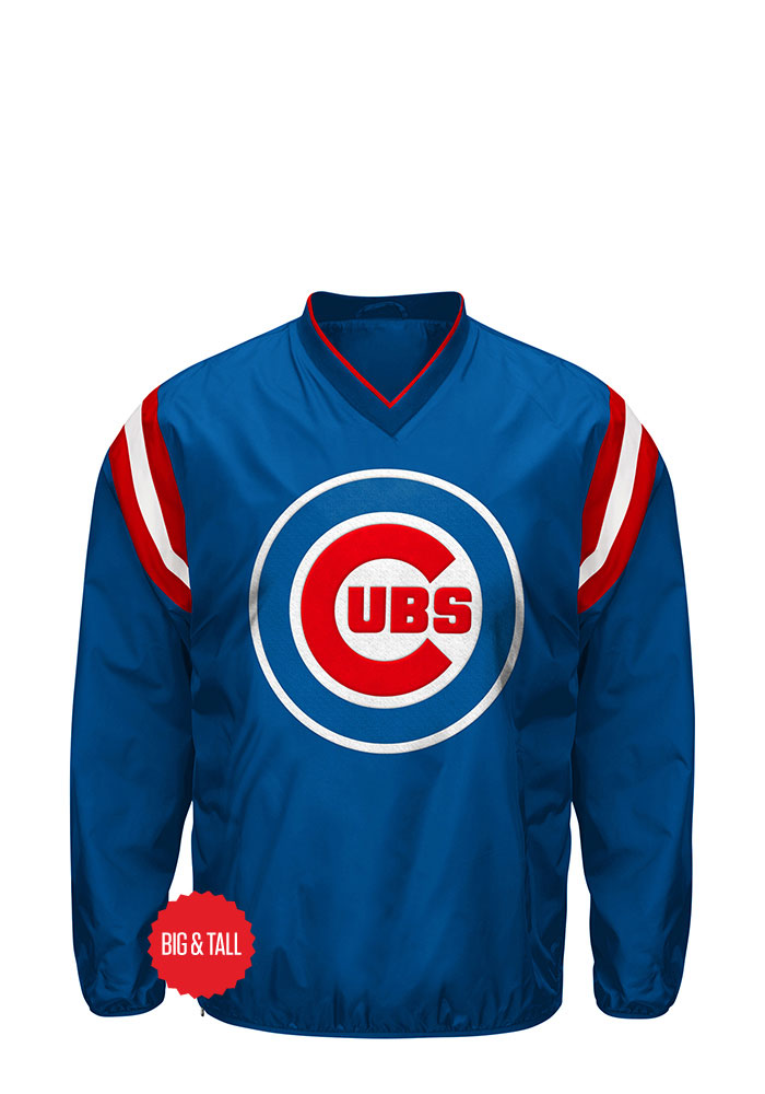 Chicago Cubs Mens Blue Big And Tall Jacket