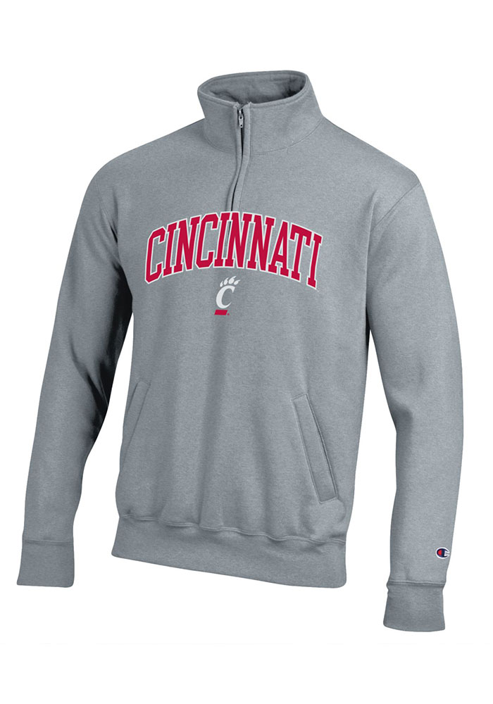 Champion Cincinnati Bearcats Grey Powerblend 1/4 Zip Pullover
