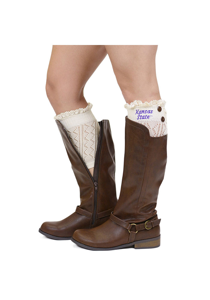 K-state Wildcats Womens Lace Boot Cuff