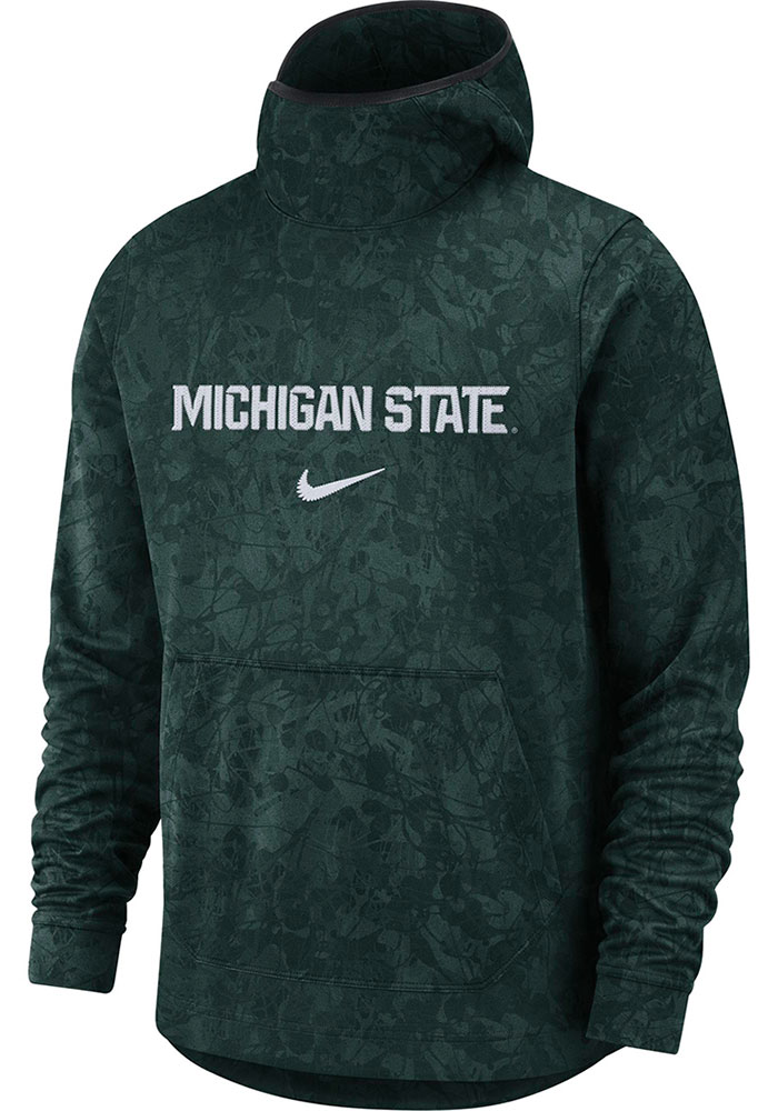 Nike Michigan State Spartans DriFit All Over Pattern Book Print Hood