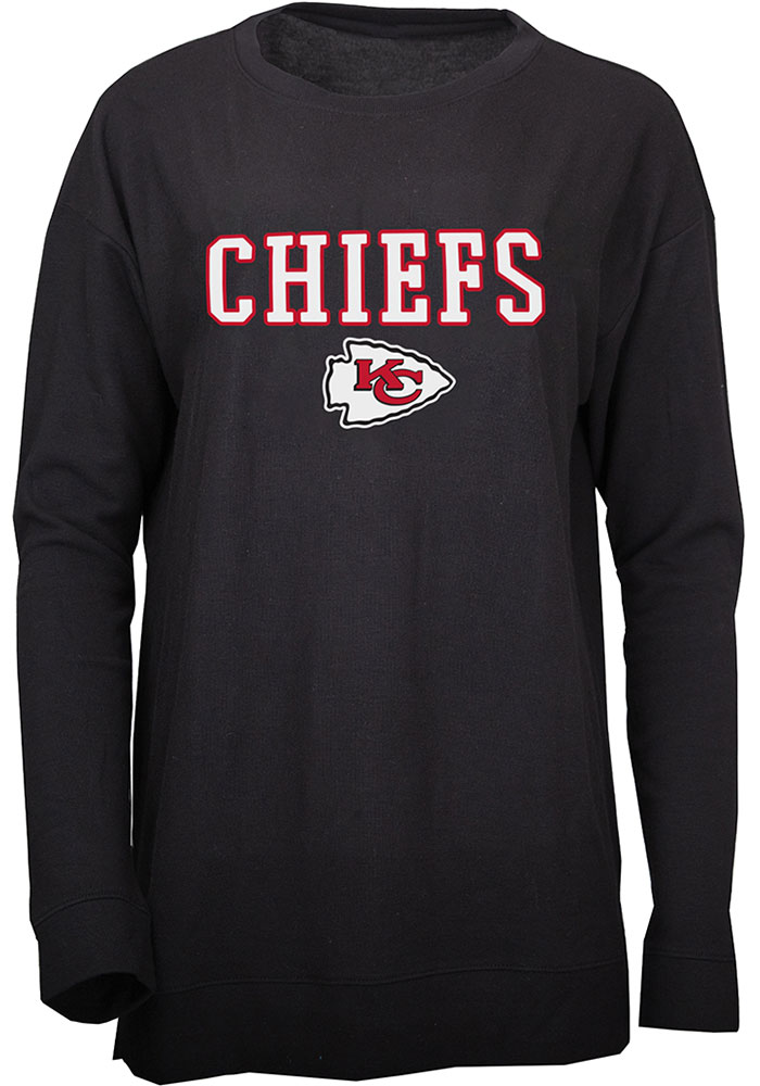 Kansas City Chiefs Womens Rapture Black Crew Sweatshirt