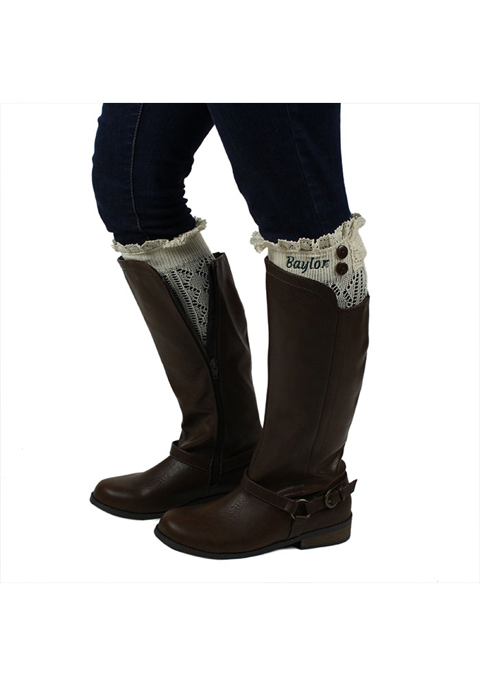 Baylor Bears Womens Lace Boot Cuff