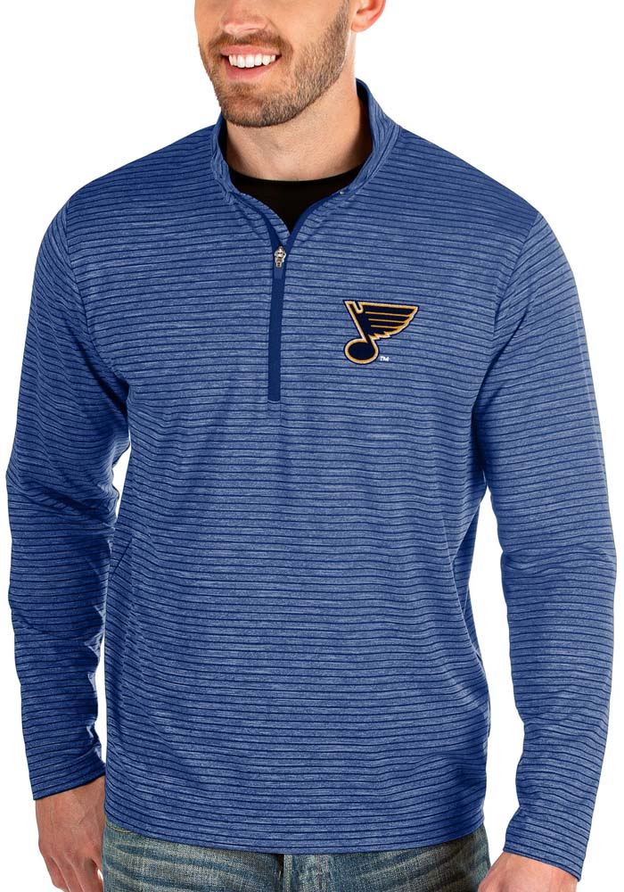 Antigua St Louis Blues Blue Capacity 1/4 Zip Pullover