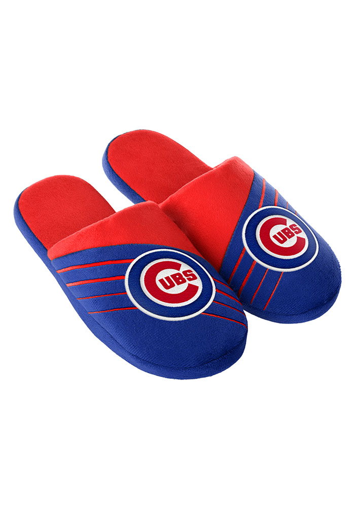 Chicago Cubs Big Logo Mens Slippers