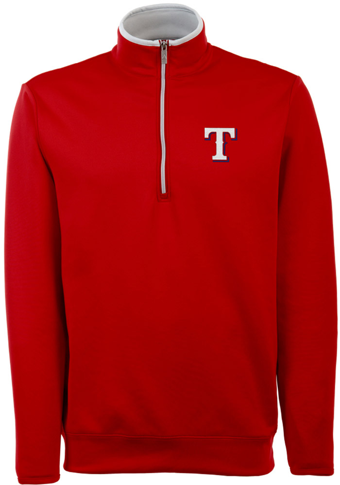 Antigua Texas Rangers Red Leader 1/4 Zip Pullover
