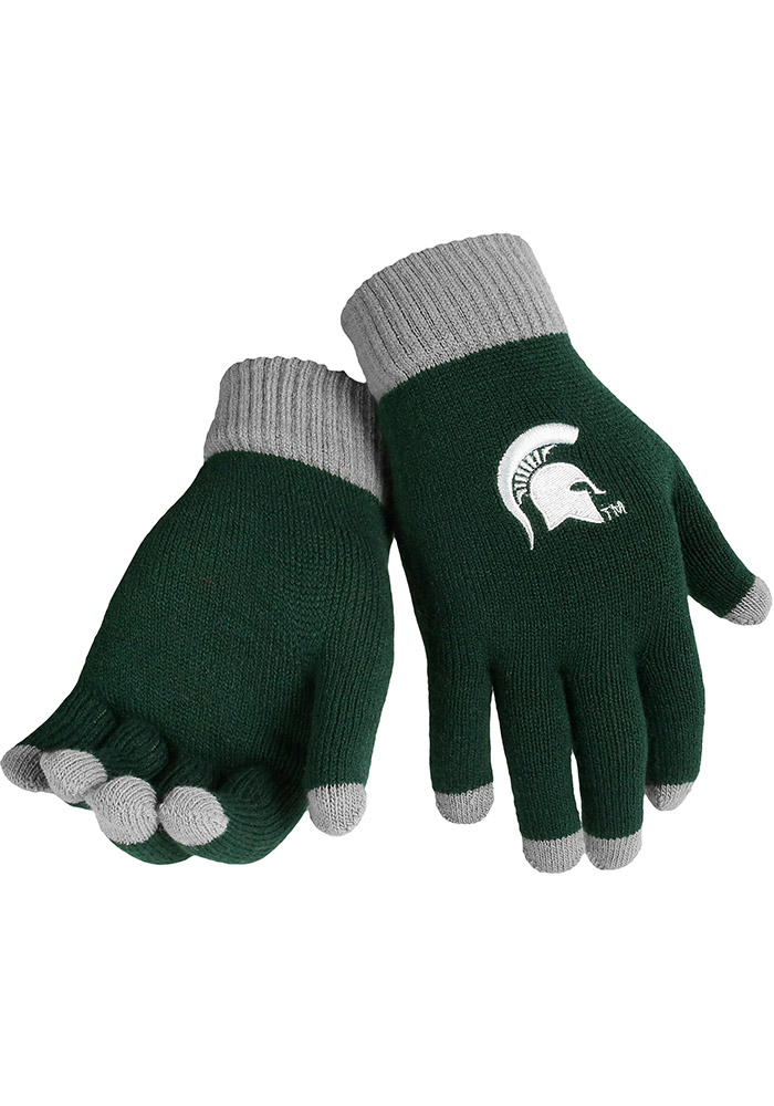 Michigan State Spartans Solid Mens Gloves