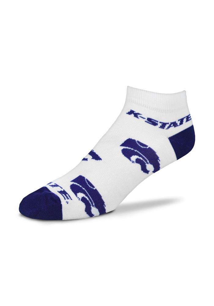 K-state Wildcats Allover Team Logo Womens No Show Socks