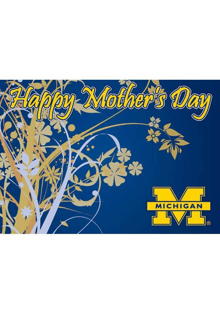 Michigan Wolverines Mother`s Day Card