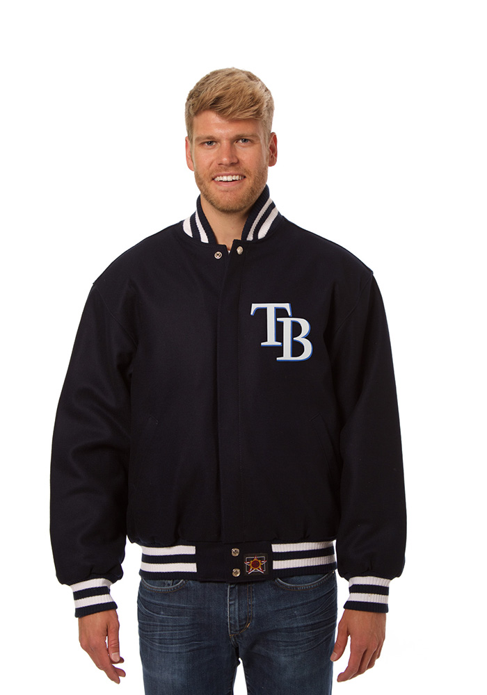 Tampa Bay Rays Mens Navy Blue All Wool Jacket Heavyweight Jacket