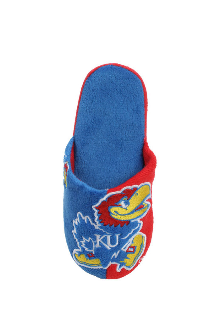 Kansas Jayhawks Split Color Slide Mens Slippers