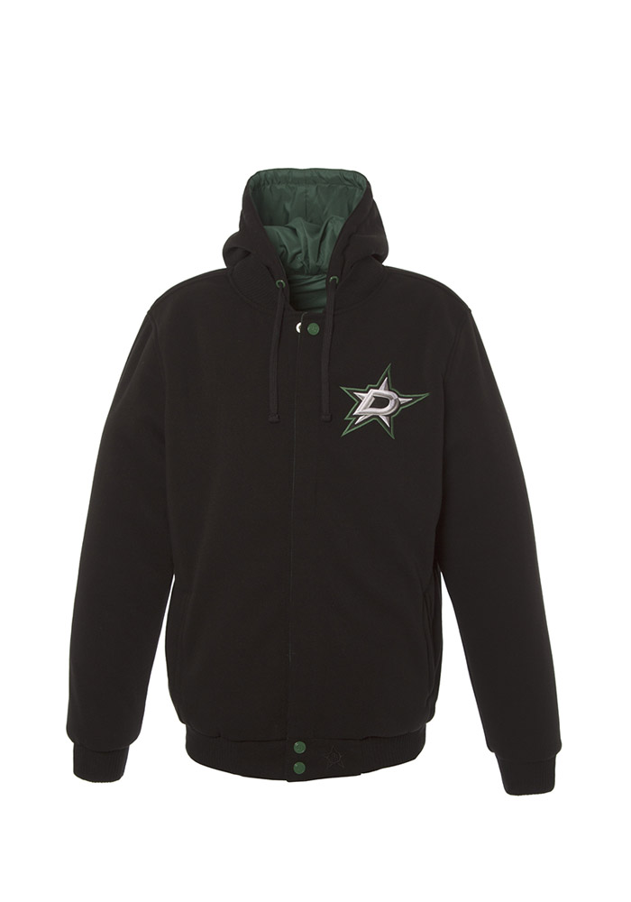 Dallas Stars Mens Black Reversible Medium Weight Jacket