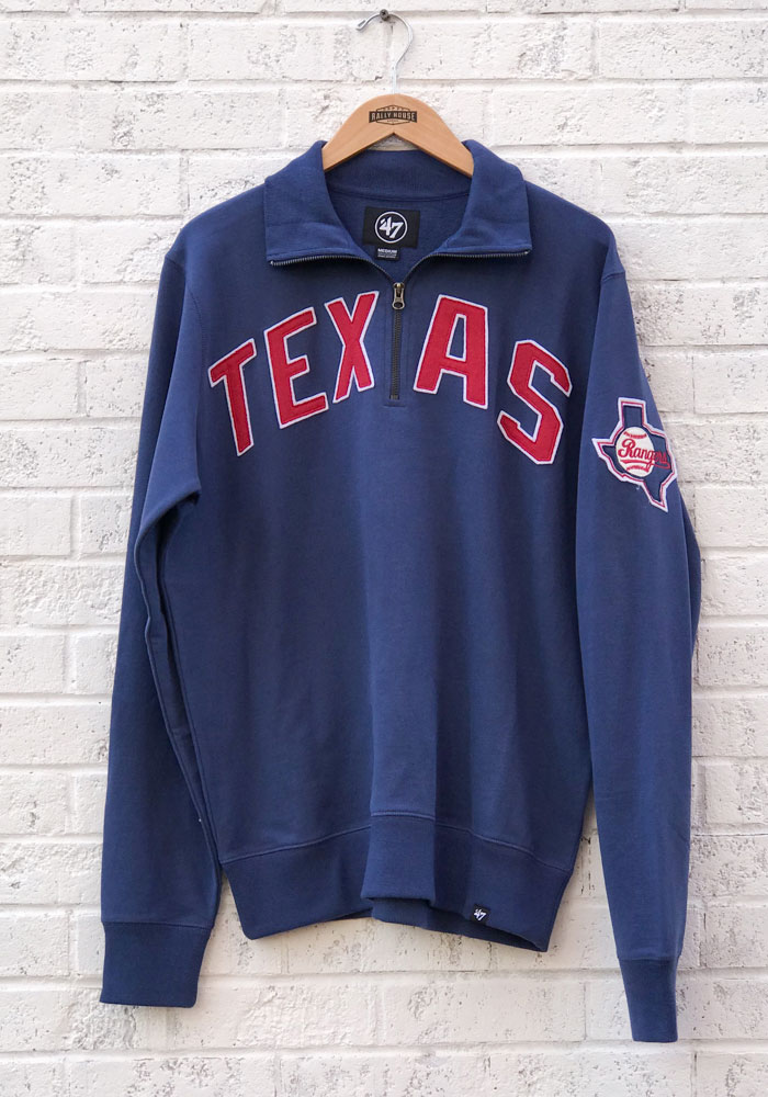 '47 Texas Rangers Blue Striker 1/4 Zip Fashion Pullover