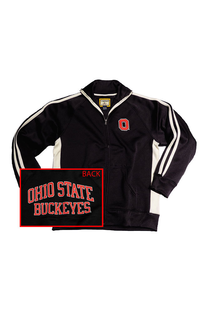 Ohio State Buckeyes Mens Black Arch Back Track Jacket