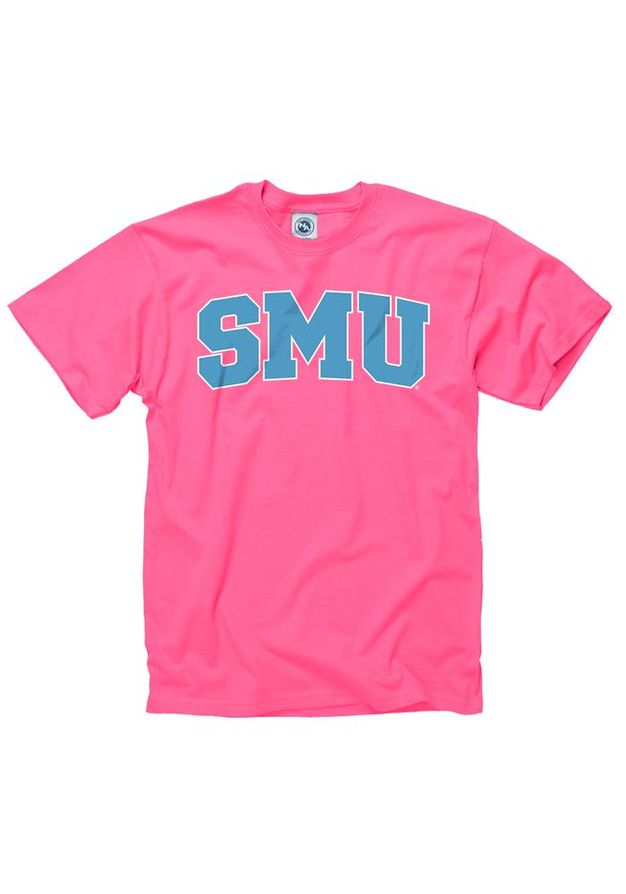 Smu Mustangs Womens Pink Fashion Practice Short Sleeve Unisex Tee
