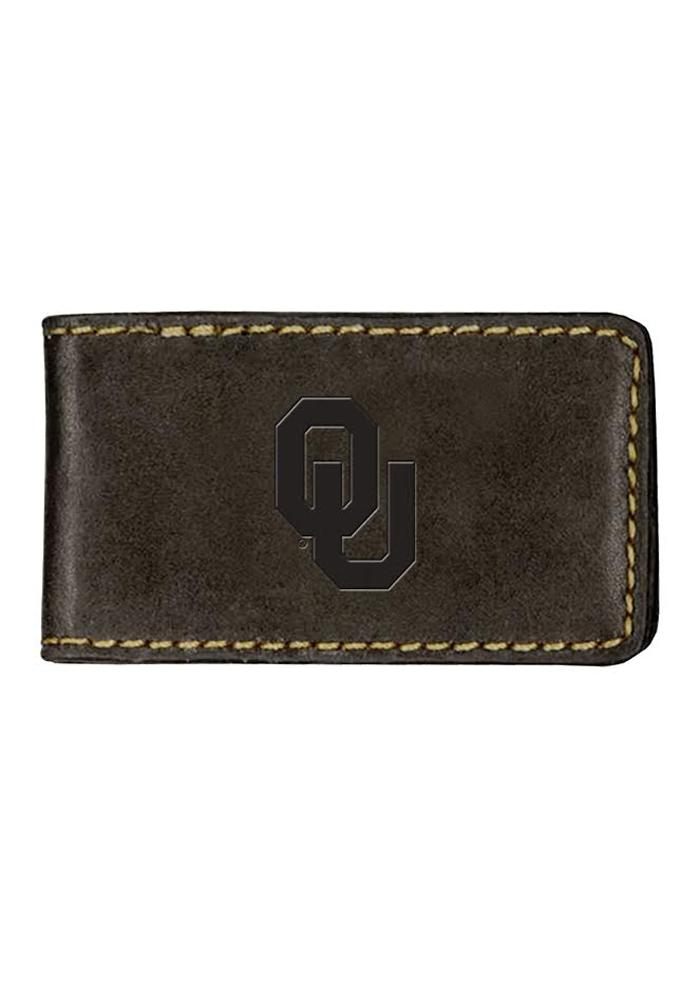 Oklahoma Sooners Contrast Stitch Mens Money Clip