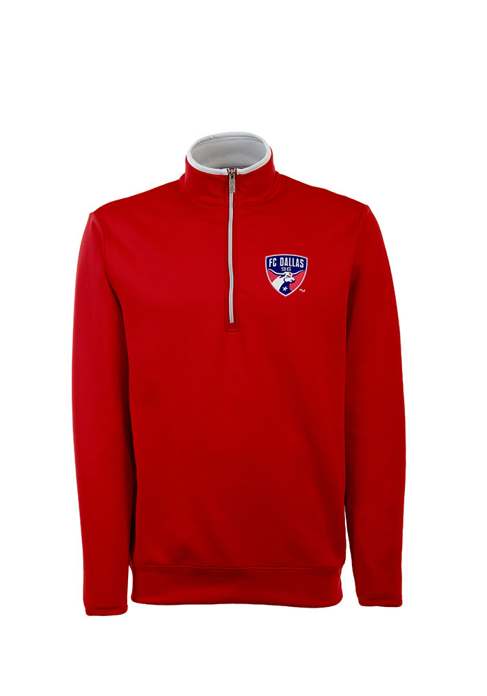 Antigua FC Dallas Red Leader 1/4 Zip Pullover