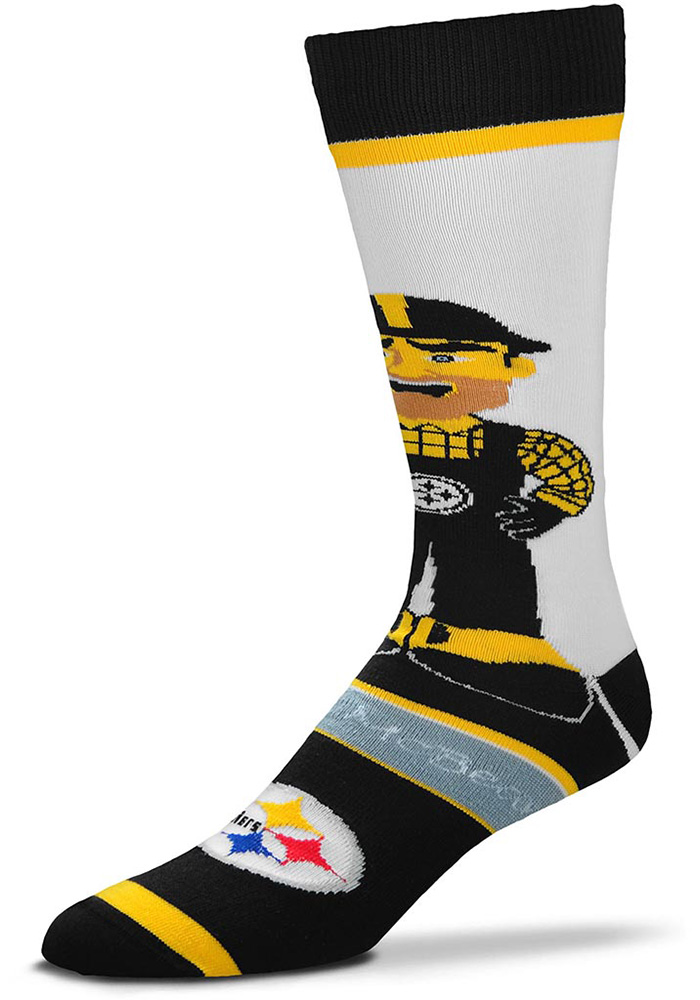 Pittsburgh Steelers Mascot Bobblehead Mens Dress Socks