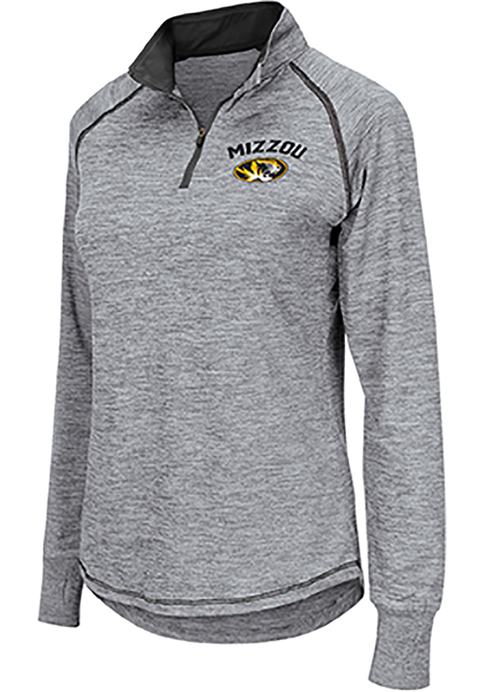 Colosseum Missouri Tigers Womens Athena Grey 1/4 Zip Pullover