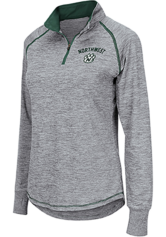 Colosseum Northwest Missouri State Bearcats Womens Athena Grey 1/4 Zip Pullover