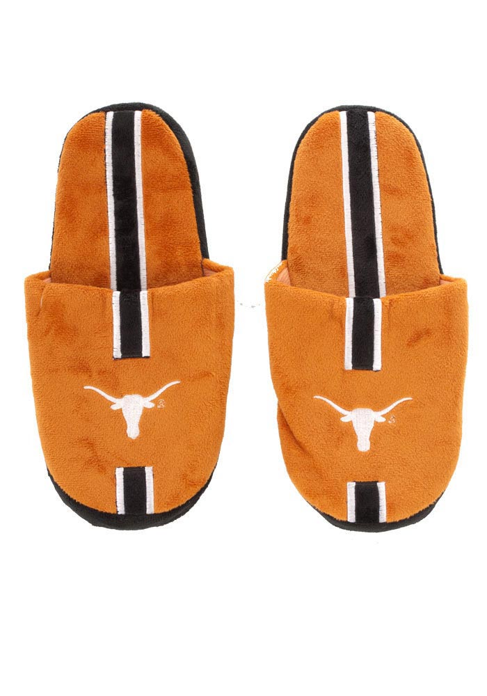 Texas Longhorns Hard Sole Stripe Mens Slippers
